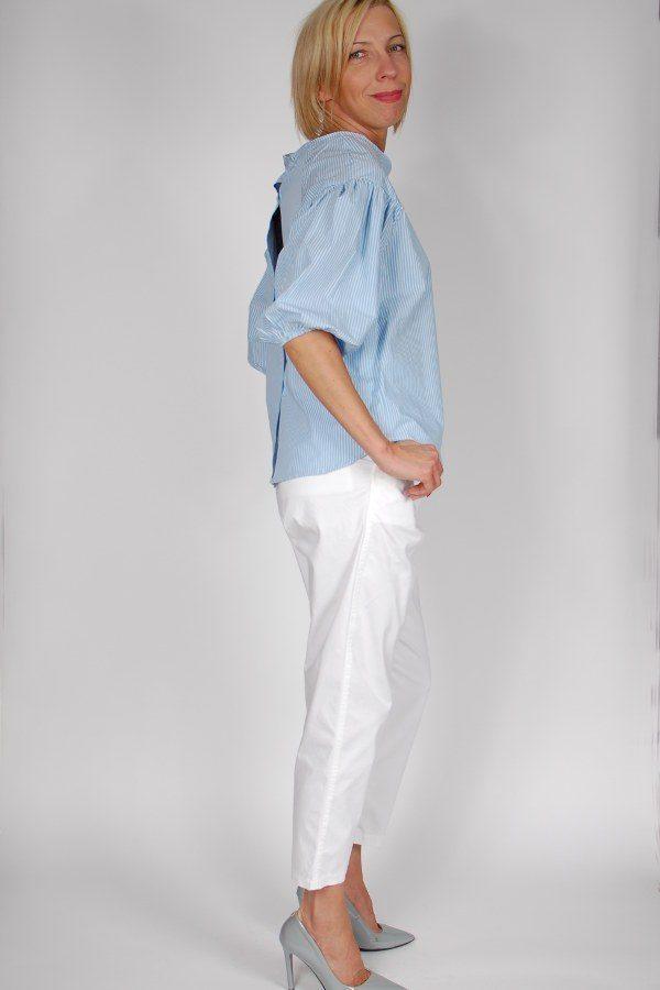 Bluzka w biało-niebieskie paski King Kong