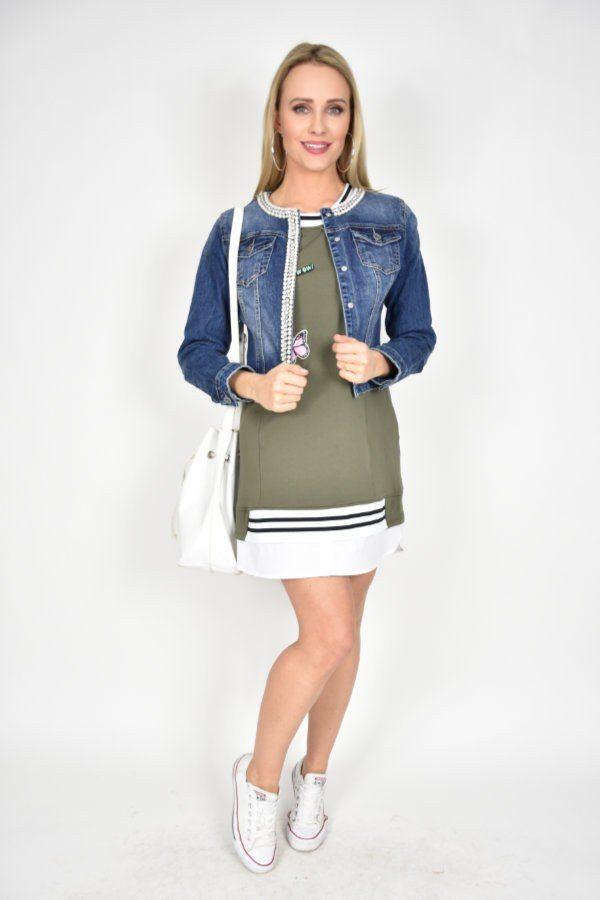 6c7c37a0c0 Kurtka jeansowa z perełkami Melanera - sklep internetowy Dolce Vita ...
