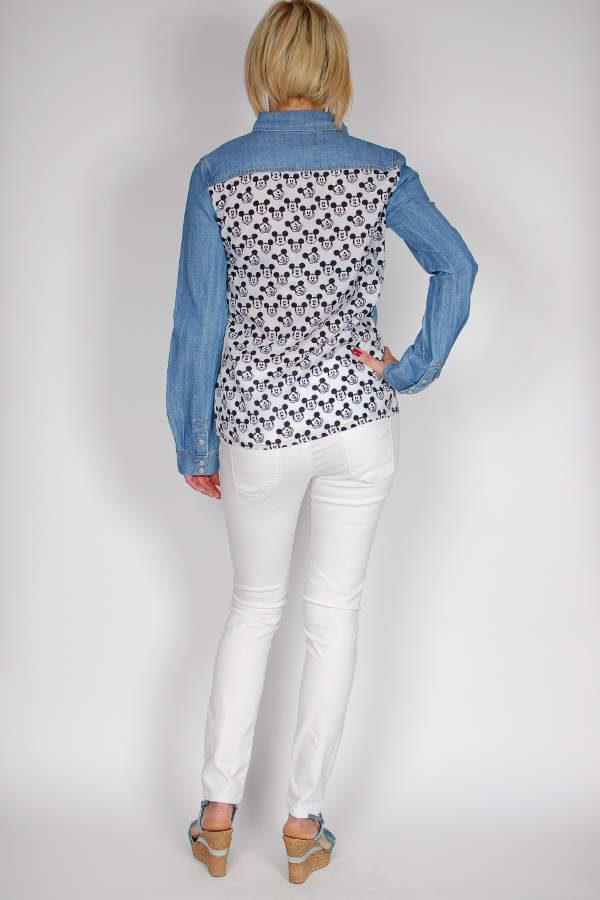 Koszula jeansowa z Myszką Miki