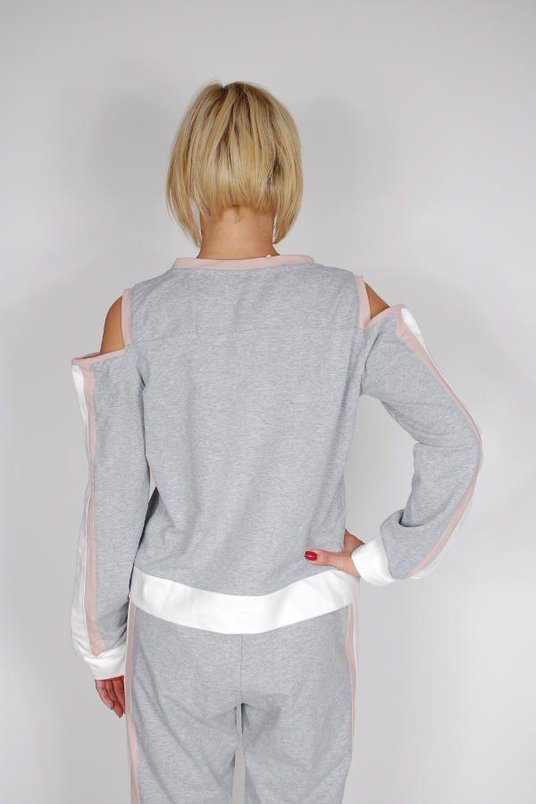 Bluza dresowa PLUMS z falbanką