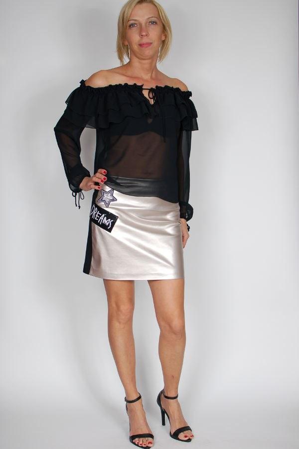 68545a8c15feb0 Spódnica czarno-złota Rossodisera - sklep internetowy Dolce Vita ...