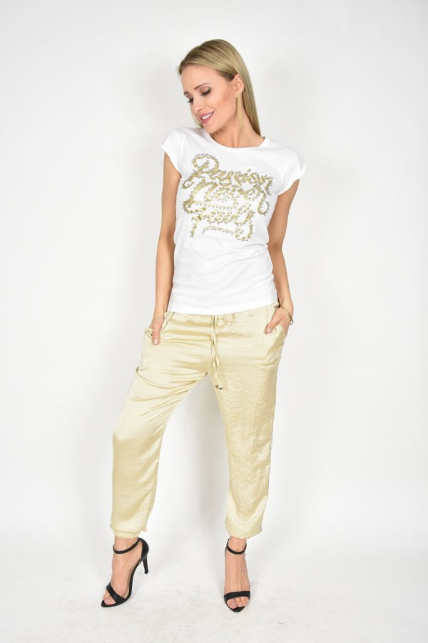 c2eda5490 Spodnie Rinascimento złote - sklep internetowy Dolce Vita Boutique