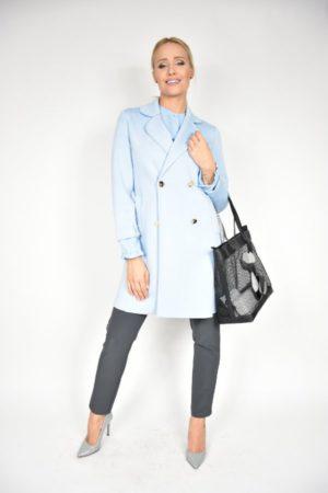 Płaszcz Rinascimento błękitny