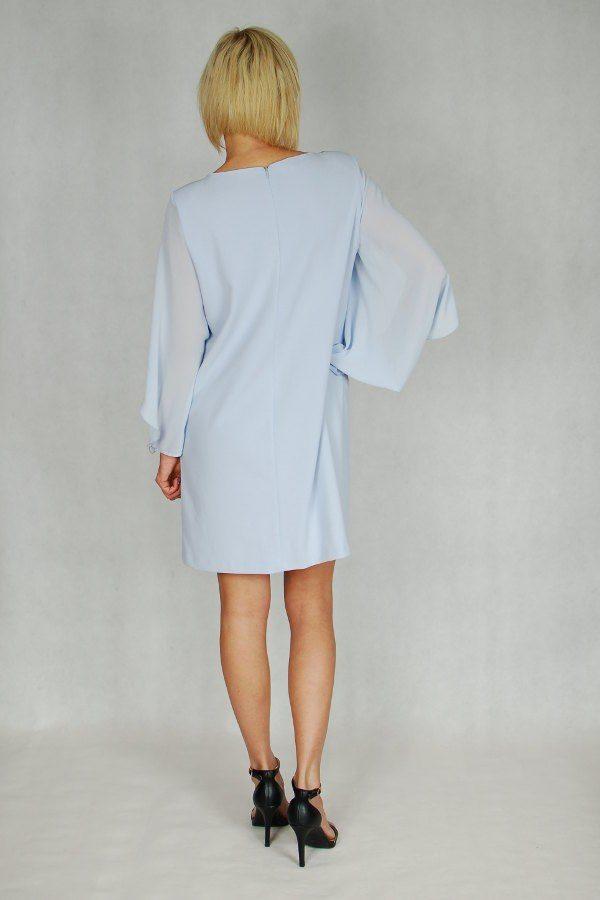 Sukienka z perełkami Rinascimento błękitna