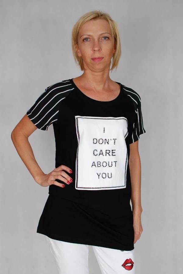 c9da42198 T-shirt z przeźroczystymi rękawkami Melanera - sklep internetowy ...