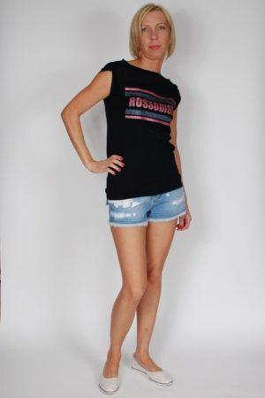 T-shirt Rossodisera czarny