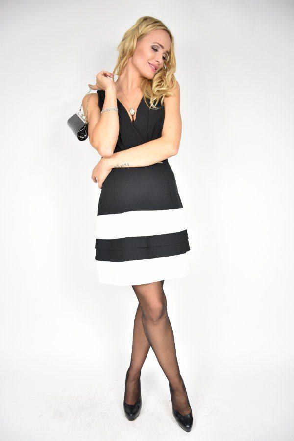 Sukienka Black & White Rinascimento