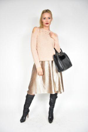 Sweter Koral Rinascimento różowy