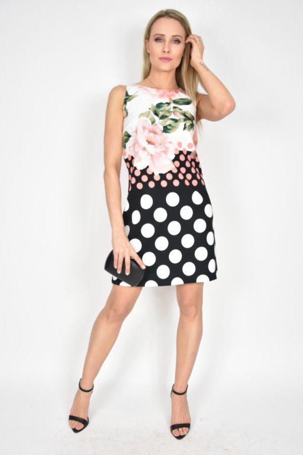 53e14a389e Sukienka w grochy Rinascimento - sklep internetowy Dolce Vita Boutique