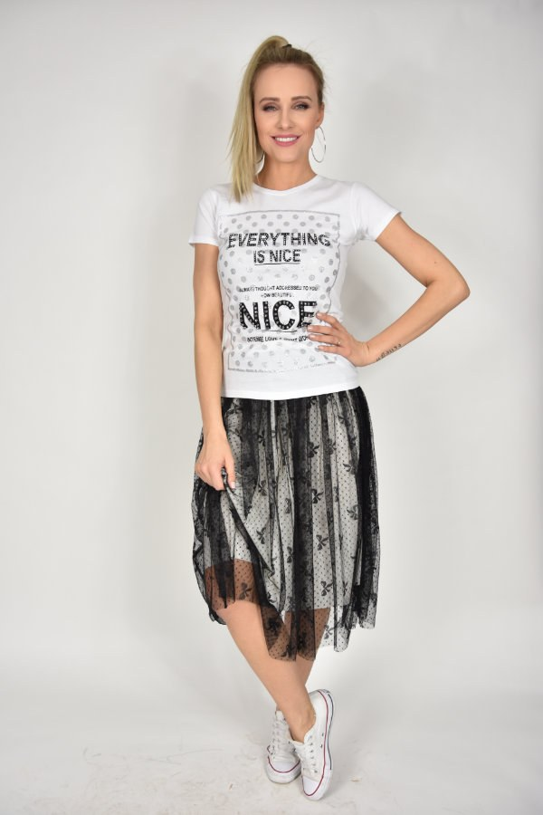 01438120e T-shirt Nice Rinascimento - sklep internetowy Dolce Vita Boutique