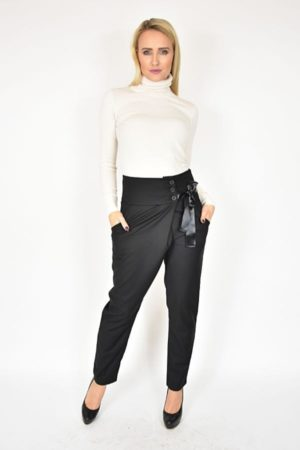 Spodnie z kokardą czarne Rinascimento
