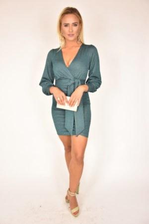 Sukienka Margherita Rinascimento turkusowa