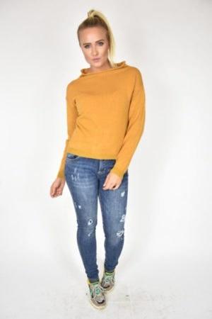 Sweter Angela Rinascimento żółty