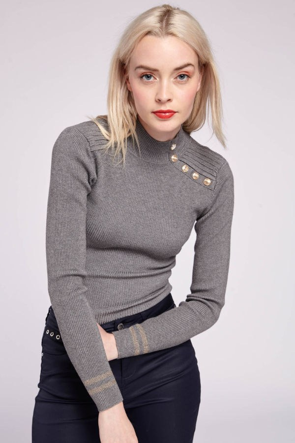 Bluzka Camille Morgan szara