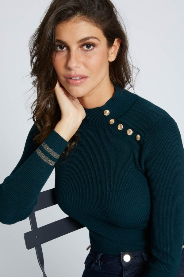 Bluzka Camille Morgan zielona